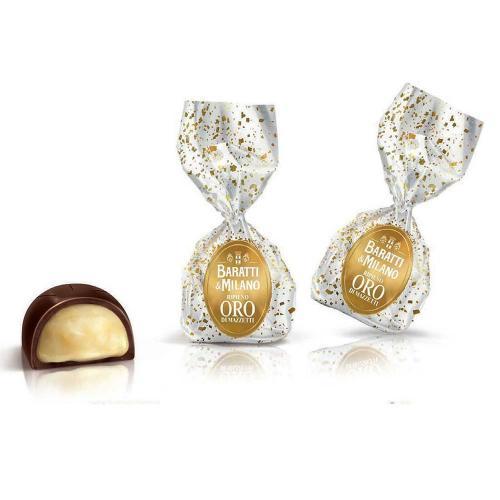 Pralina di Cioccolato Extra Fondente con Ripieno al Liquore Oro Mazzetti Baratti & Milano Busta 500 Gr