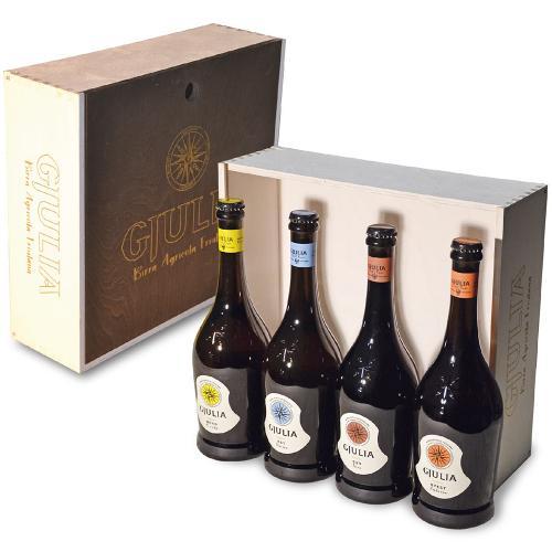 Cassetta in Legno Vuota 4 bt Birrificio Gjulia