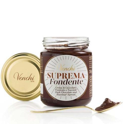Crema Spalmabile Suprema di Cioccolato Fondente e Nocciole Venchi 250 gr