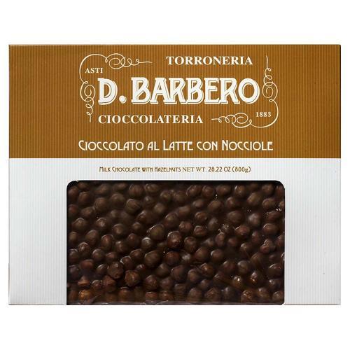 Tablet di Cioccolato al Latte con Nocciole Torroneria Barbero Gr 800