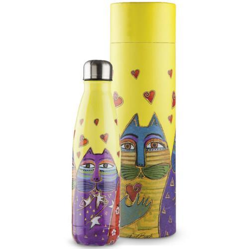 Bottiglia Termica Ml 500 Laurel Burch Colore Giallo Egan