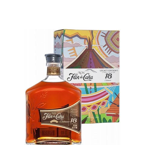 Rum Centenario Gold 18 Years Old Flor de Cana 70 Cl