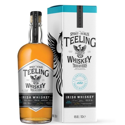 Whiskey Irish Small Batch Non Chill Filtered Rum Cask Agricole Trois Rivieres Finish Teeling 70 Cl in Tubo