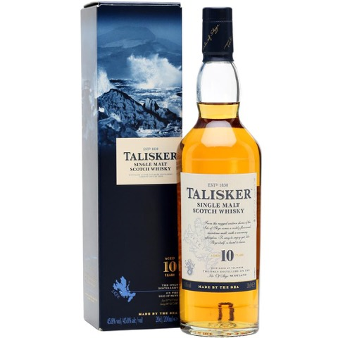 Whisky Scotch Sinle Malt 10 Years Old Talisker 70 Cl