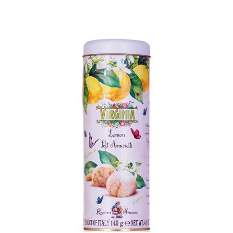 Amaretti al Limone in Tubo di latta 140gr Virginia
