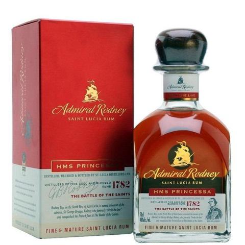 Rum Santa Lucia HMS Princessa Admiral Rodney 70 Cl