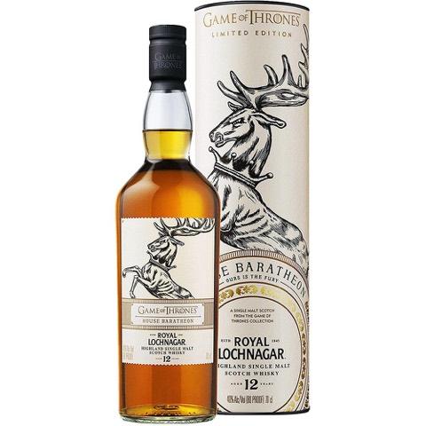 Whisky Scotch Highland Single Malt 12 Years Old House Baratheon Game Of Thrones Royal Lochnagar 70 Cl in Tubo