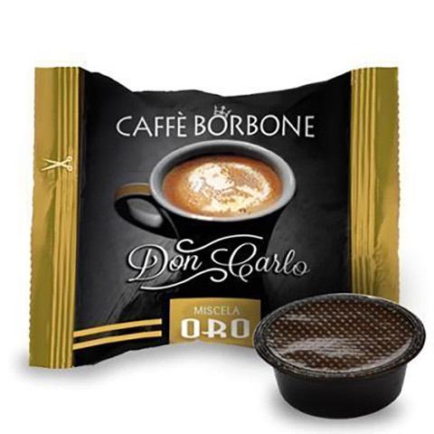 Capsule Don Carlo Caffè Oro x Lavazza a Modo Mio Borbone confezione 50 Pz