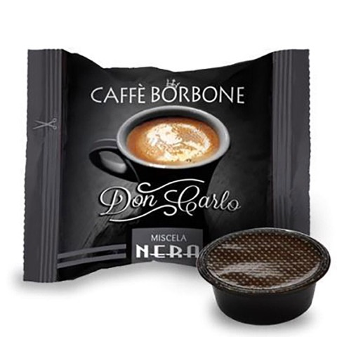 Capsule Don Carlo Caffè Nera x Lavazza a Modo Mio Borbone confezione 50 Pz
