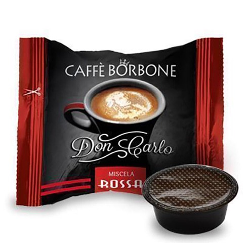 Capsule Don Carlo Caffè Rossa x Lavazza a Modo Mio Borbone confezione 50 Pz