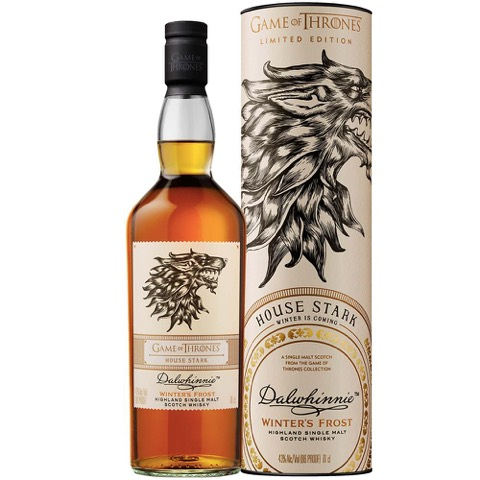 Whisky Scotch Highland Single Malt House Stark Game of Thrones Dalwhinnie 70 Cl in Tubo
