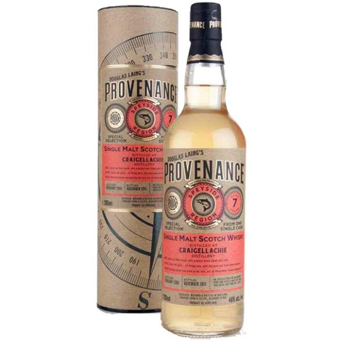 Whisky Single Malt Scotch 7 Years Old Speyside Provenance Douglas Laing Distillery Craigellachie 70 Cl in Astuccio