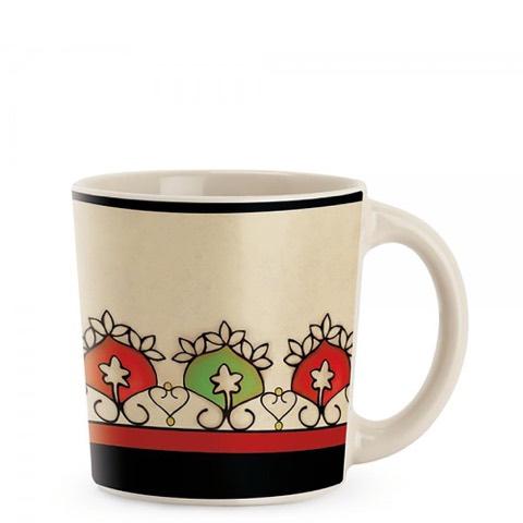 Mug Mediterraneo Fascia Rossa in Stoneware Egan
