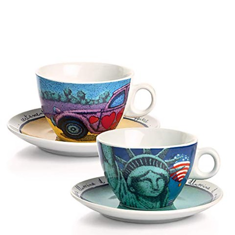 Set 2 Tazze Cappuccino Icalistni Ny/ Diane Egan