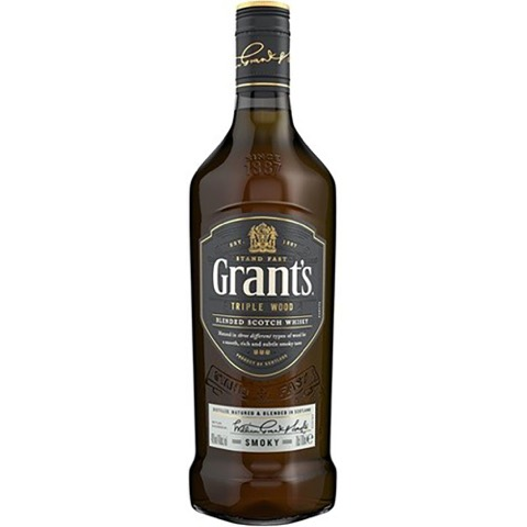 Whisky Scotch Blended Triple Wood Smoky Grant's 70 Cl