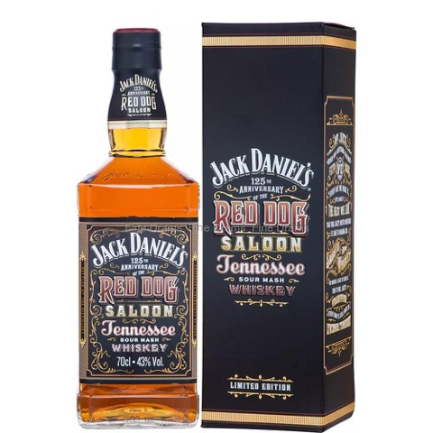 Whiskey Tennessee 125 Th Anniversary Red Dog Saloon Jack Daniel's 70 Cl