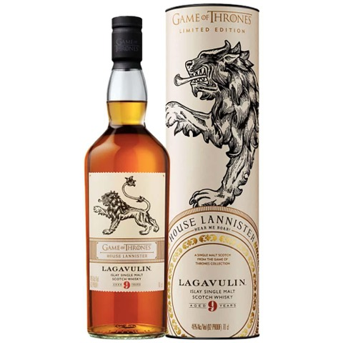 Whisky Scotch Single Malt Islay 9 Years Old House Lannister Game Of Thrones Limited Edition Lagavulin 70 Cl Tubo