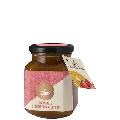 Confettura Extra di Fragole e Arance di Sicilia Fiasconaro 360 Gr