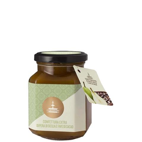 Confettura Extra di Pera di Sicilia e Fave di Cacao Fiasconaro 360 Gr