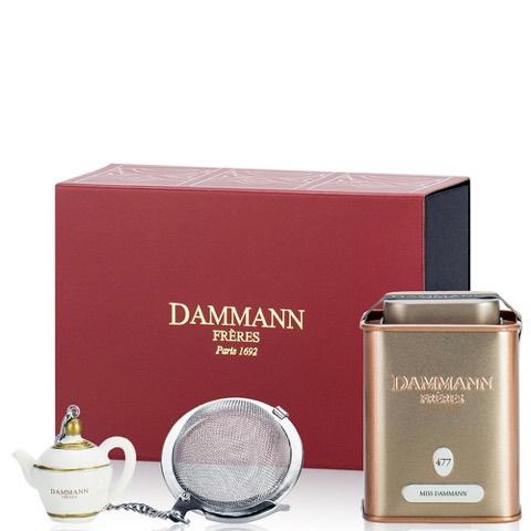 Tè Verde sfuso aromatizzato Dammann Freres Confezione Tuileries con Infusore