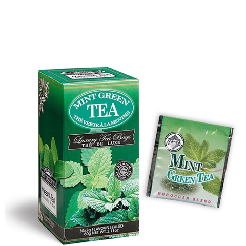 Tè The Mint Green Premium Ceylon Tea Mlesna Confezione 30 Filtri