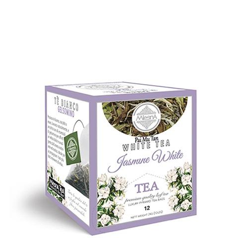 Tè Bianco al gelsomino Tea Mlesna Confezione 12 Filtri piramidali