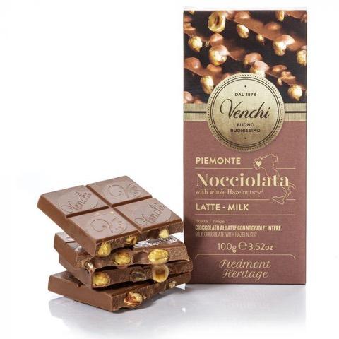 Tavoletta Nocciolata di Cioccolato al Latte Astucciata Venchi Gr.100