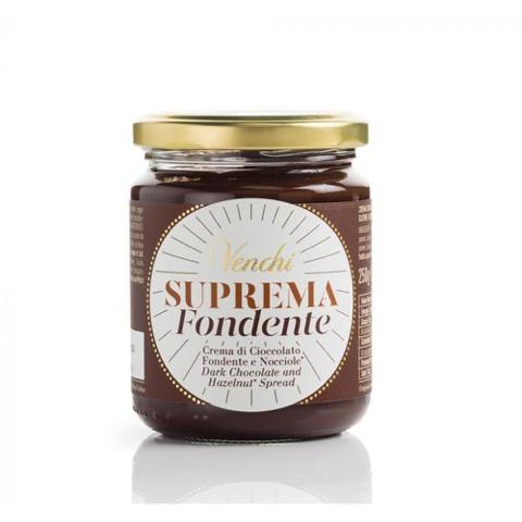 Crema Suprema di Cioccolato Fondente e Nocciole Venchi 250 gr