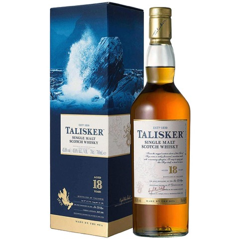 Whisky Scotch Single Malt 18 Years Old Talisker 70 Cl