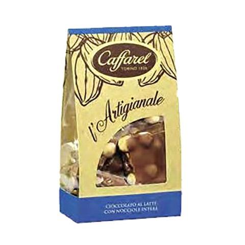 Cioccolato al Latte con nocciole intere l'Artigianale Caffarel 200 Gr in Sacchetto