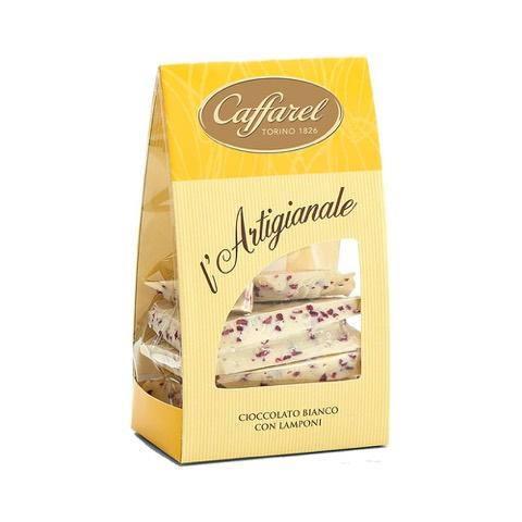 Cioccolato Bianco con Lamponi l'Artigianale Caffarel 200 Gr in Sacchetto