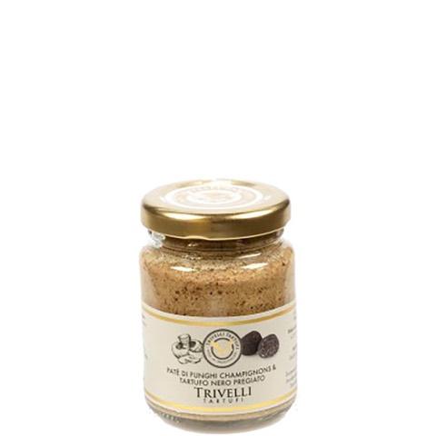 Patè di Funghi Champignon e Tartufo Nero Pregiato Trivelli 90 Gr