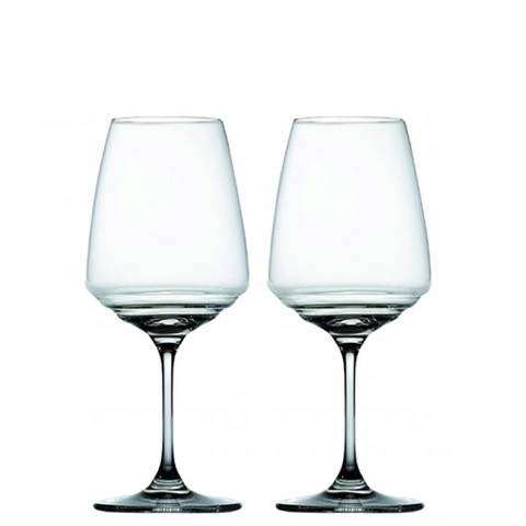 Calici in Vetro Soffiato per Vini Bianchi e Rossi di Medio Corpo Zafferano Confezione da 2 pezzi