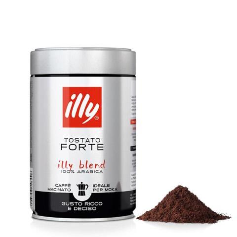 Caffè Macinato per Moka Tostato Forte Illy Barattolo Gr.250