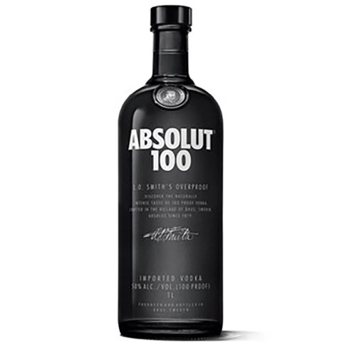 Vodka 100 Absolute 1000 Ml