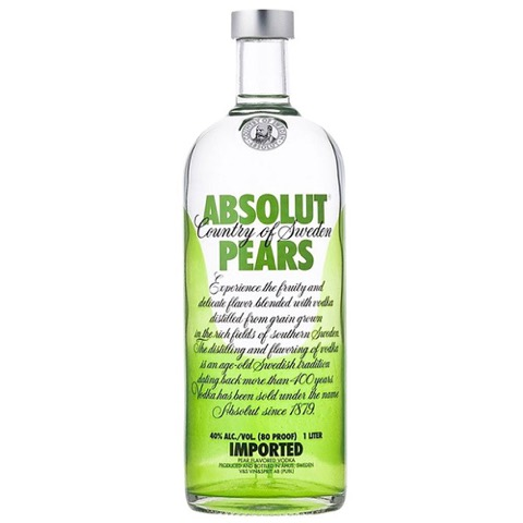 Vodka Pears Absolut 1 Lt