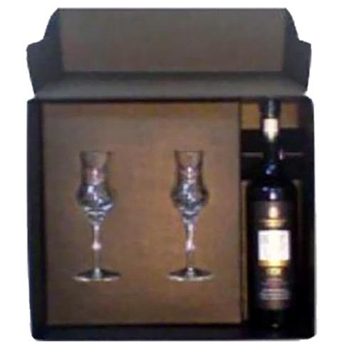 Acquavite Prime Uve Bonaventura Maschio 70 Cl Confezione con 2 Bicchieri