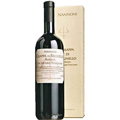 Acquavite Stravecchia da Vinacce di Brunello Riserva da Sigaro Toscano Nannoni Jeroboam 3 Lt in Cassa di Legno