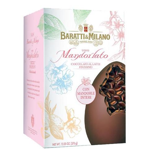 Uovo Mandorlato Cioccolato al Latte Finissimo  Baratti & Milano 370 Gr