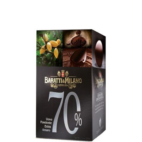 Uovo di Cioccolato Extra Fondente 70% Baratti & Milano 210 Gr
