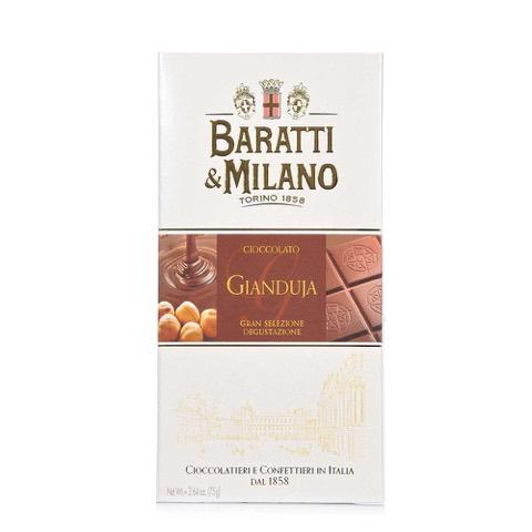 Tavoletta di Cioccolato Gianduja Baratti & Milano 75 Gr.
