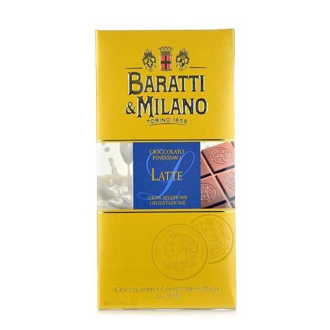 Tavoletta di Cioccolato Finissimo al Latte Baratti & Milano 75 Gr