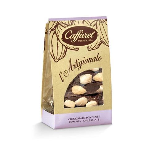 Cioccolato Fondente con mandorle salate l'Artigianale Caffarel 200 Gr in Sacchetto