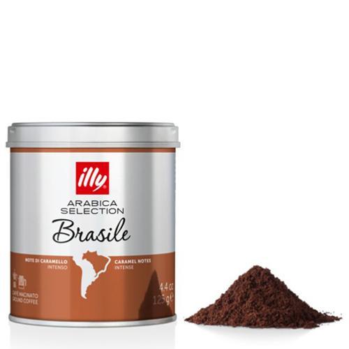 Caffè Espresso Macinato Monoarabica Brasile Illy Barattolo Gr.125