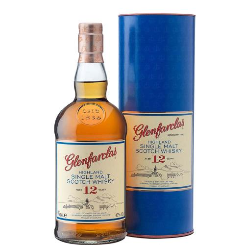 Whisky Single Malt 12 Years Old Highland Glenfarclas 70 Cl in Tubo