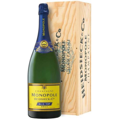 Champagne Brut Blu Top  Heidsieck Monopole Magnum 1,5 Lt in Cassa di Legno