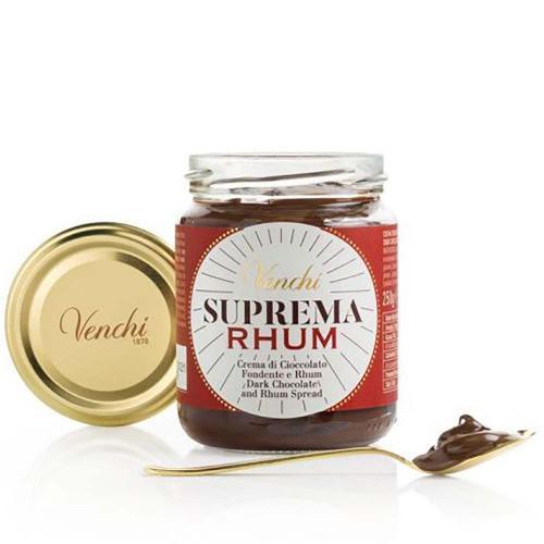 Crema Spalmabile di Cioccolato Fondente e Rhum Suprema Venchi 250 Gr