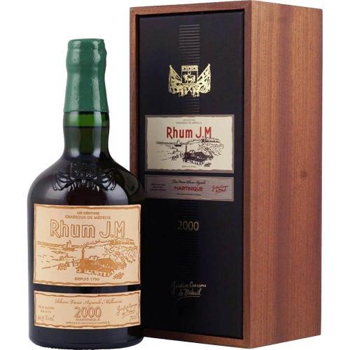Rum Rhum Agricole Martinique 15 ans Millesime 2000 J.M 70 Cl in Cofanetto Legno