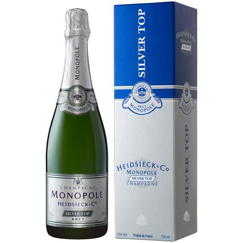 Champagne Brut Silver Top Heidsieck Monopole in Astuccio