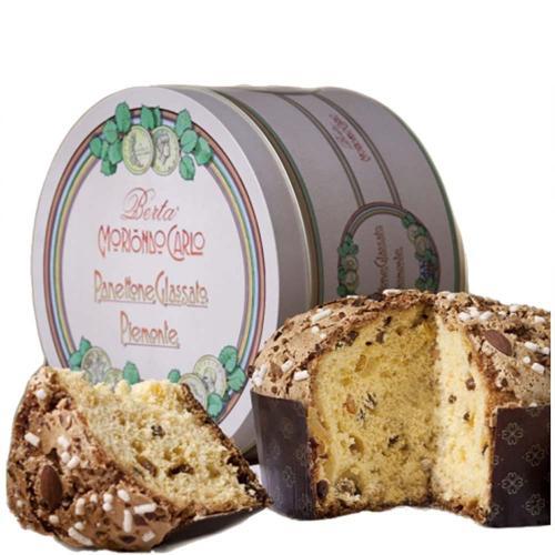 Panettone Cioccolato e Grappa di Moscato Bric del Gaian Berta Moriondo Carlo 1 Kg in Latta